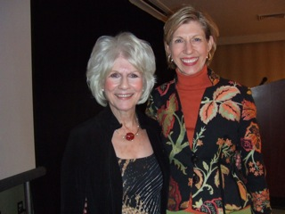 Diane Rehm and Susan Miller at Spasmodic Dysphonia Symposium